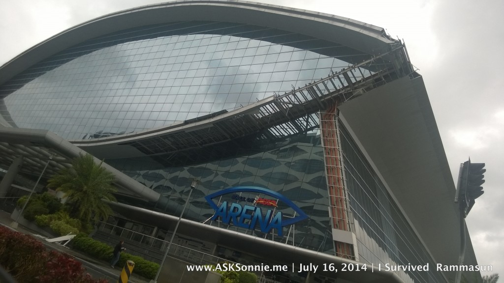 Damage to MOA Arena, brought about by Typhoon Glenda